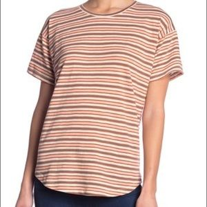 Striped crew neck tee- multiple sizes available